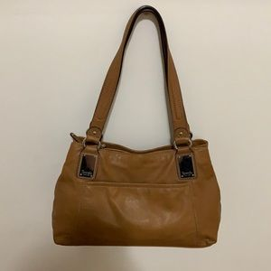 Tiganello Camel/Tan Leather Shoulder Bag